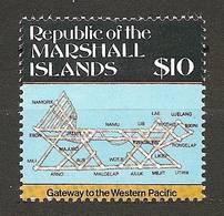 MARSHALL ISLANDS 1987 - BAR MAP / STAFCARD Of The Islands / Military Use NAVIGATION- 1v Cpl Mi 119 MNH ** Cv€32,00 V327 - Marshall