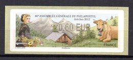 Vignette LISA  // 60e Assemblée Philapostel // Areches 2012 - 2010-... Vignettes Illustrées