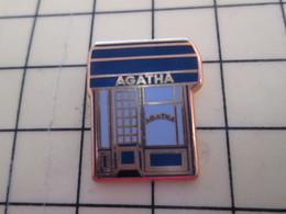 AB18-1 Pin's Pins : BEAU ET RARE :  ARTHUS BERTRAND / MAGASIN AGATHA PARIS - France Telecom