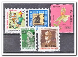 Bolivië 1984, Postfris MNH, Flowers, Orchids, Scouting, Football, Christmas Overprints - Bolivië