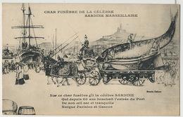 Char Funebre De La Sardine De Marseille Corbillard Humour - Funérailles