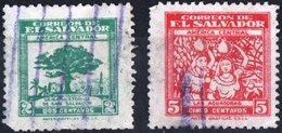 EL SALVADOR, 1946-1947, FRANCOBOLLI USATI,  Scott 594,595 - El Salvador