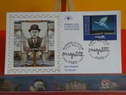 René Magritte, Le Retour < Paris (75) > 18.4.1998 < FDC 1er Jour > Coté 8€ - FDC
