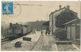 Très Beau Plan De Train Tacot à Pierrefitte Sur Sauldre La Gare Loir Et Cher  Edit Lenormand Orleans - Gares - Avec Trains