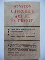 WWII WW2 Tract Flugblatt Propaganda Leaflet In French, PWE F Series/1942, F.18, WINSTON CHURCHILL AMI DE LA FRANCE - Oude Documenten