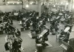 URSS Moscou Fabrication Du Journal La Pravda Imprimerie Ancienne Photo 1947 - Other