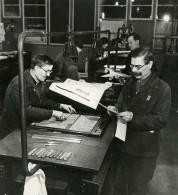 URSS Moscou Fabrication Du Journal La Pravda Stepanov Ancienne Photo 1947 - Other