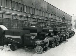 URSS Moscou Fabrication Du Journal La Pravda Camions De Livraison Ancienne Photo 1947 - Photographs