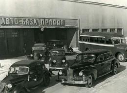 URSS Moscou Fabrication Du Journal La Pravda Automobiles Ancienne Photo 1947 - Other