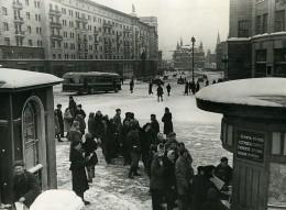 URSS Moscou Distribution Du Journal La Pravda Ancienne Photo 1947 - Photographs