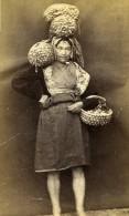 France Pêcheuse De Coques Au Mont Saint Michel Ancienne Photo CDV 1870' - Photos