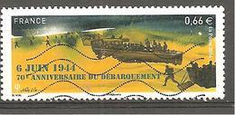 FRANCE 2014 Y&T N° 4863 Timbre Oblitéré 6 JUIN 1944 70 E ANNIVERSAIRE DU DEBARQUEMENT - Used Stamps