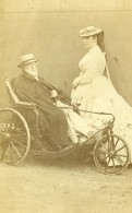 France Chaise De Malade Tricycle Ancienne Photo CDV 1870' - Photographs