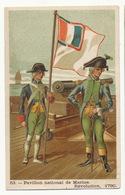 Chromo Pavillon Marine Revolution 1790  Pub Chocolat Grande Trappe Orne Quina Thé Huile Olive - Regimenten