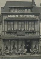 27 : Routot : Photo ( 8,8 X12,07 ) .et Menu Au Verso , Marché Fleuri  . - Routot
