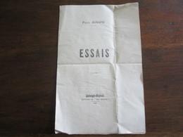 ESSAIS PAUL AUVARD EDITION DE MA REVUE LOSTANGES MEYSSAC 1928 - Autographed