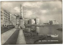 X1880 Napoli - Via Partenope - Panorama / Viaggiata 1950 - Napoli
