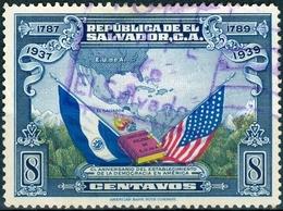 EL SALVADOR, COMMEMORATIVO, U.S. COSTITUZIONE, 1938, FRANCOBOLLI USATI,  Michel 554   Scott 572 - El Salvador