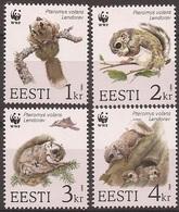 ESTONIE / ESTONIA 1994 Y&T 241 à 244  Neufs** L'écureuil Volant - WWF / Pteromys Volans - W.W.F.