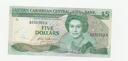 5 Dollar Antigua UNZ - Caraïbes Orientales