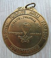 AC  -  FIFTH NATIONAL PARACHUTING CHAMPIONSHIP 30 MAY - 03 JUNE 1973 ETIMESGUT ANKARA TURKEY MEDAL - MEDALLION - Paracaidismo