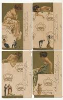 Serie De 4 CP Kirchner Les Marionnettes Manipulation Paillettes Les 2 Cp Du Bas Ont Des Defauts - Kirchner, Raphael