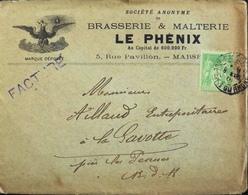 FR 1901 - Facture De La Brasserie & Malterie LE PHENIX à Mr Aillaud Entrepositaire - Timbré Daté 08.03.1901 - En TBE - - 1900 – 1949