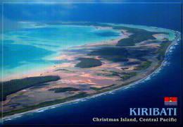 KIRIBATI,  AERIAL VIEW OF CHRISTMAS ISLAND (KIRITIMATI), CENTRAL PACIFIC [45225] - Kiribati