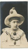 Serie De 5 CP Pierrot Pensif, Satisfait, Blasé, Futé, Bailleur - Carnaval