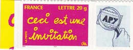"""Message """" Ceci Est Une Invitation """" N°3760 B Avec Vignette Personnalisée - France"""