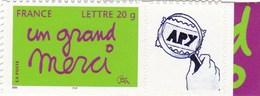 """Message """" Un Grand Merci """" N°3761 B Avec Vignette Personnalisée - France"""