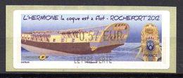Vignette LISA  // L'hermione à Flot //  Rochefort 2012 - 2010-... Vignettes Illustrées
