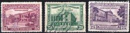EL SALVADOR, POSTA AEREA, AIRMAIL, MONUMENTI, 1944, FRANCOBOLLI USATI,  Michel 602-604   Scott C93-C95 - El Salvador