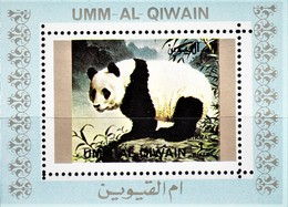 UMM-AL-QIWAIN 1971. FAUNA ANIMALS. PANDA. DELUXE** - Sellos