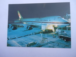 CPSM COMPAGNIE AÉRIENNE - JAPAN AIR LINES BOEING 747 JUMBO JET - TOKYO AIRPORT AT NIGHT - 1946-....: Ere Moderne