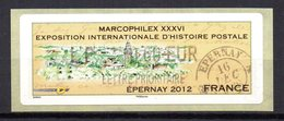 Vignette LISA  // Marcophilex  //  Epernay 2012 - 2010-... Abgebildete Automatenmarke
