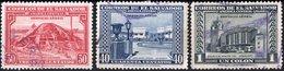 EL SALVADOR, POSTA AEREA, AIRMAIL, MONUMENTI, 1946, FRANCOBOLLI USATI,  Michel 605-607   Scott C99-C101 - El Salvador
