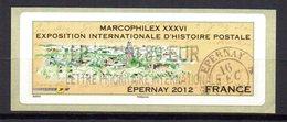 Vignette LISA  // Marcophilex  //  Epernay 2012 - 2010-... Illustrated Franking Labels