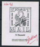 GB Gerald King Cinderella KNIGHT MAIL Chess Signed - Cinderellas