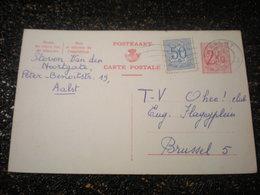 Entiers Postaux Belge 2,5 F + Timbre De 50c Sans Piblicité (i5) - Publibels