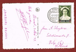 Gelegenheidsstempel Internationale Jaarbeurs Brussel 1953 - Gefälligkeitsabstempelung