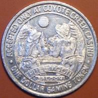 $1 Casino Token. Coyote Creek, Central City, CO. 1994. D76. - Casino