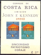 Costa Rica - 1965 - Yt BF 8 - Hommage à John Fitzgerald Kennedy - ** - Costa Rica