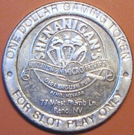 $1 Casino Token. Shenanigan's. Reno, NV. D76. - Casino