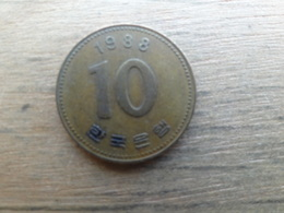 Koree Du Sud  10 Won  1988  Km 33 - Corée Du Sud