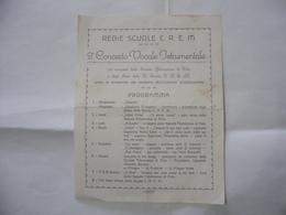 PROGRAMMA MUSICALE REGIE SCUOLE C.R.E.M.POLA MAESTRO GIOVANNI MAGNARIN - Programas