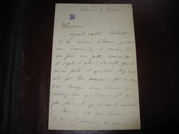 "LETTRE AUTOGRAPHE SIGNEE D'ELISA PRINCESSE BACCIOCHI 1860 ""MADAME NAPOLEONE"" NIECE EMPEREUR ""L'AIGLON"" RARE - Autógrafos"