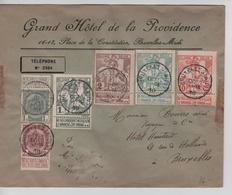 TP 81/82-84/87 S/L.Gd Hôtel Providence C.BXL (Midi)4/10/1910 V. E/V - 1910-1911 Caritas