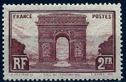 """FR YT 258 """" Arc De Triomphe De L'Etoile """" 1929-31 Neuf* - France"""