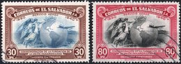 EL SALVADOR, POSTA AEREA, AIRMAIL, COMMEMORATIVO, UNIONE PANAMERICANA, 1940, USATI,  Michel 578,579   Scott C71,C72 - El Salvador